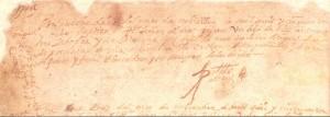Partida de bautismo de Miguel de Cervantes Saavedra