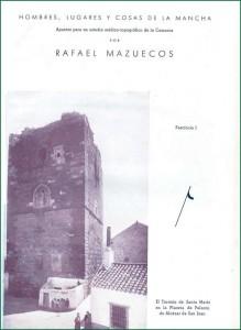 """Portada de """"Hombres, lugares y cosas de La Mancha"""", de Rafael Mazuecos Pérez-Pastor"""
