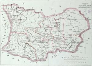 Mapa de la provincia de Ciudad Real (mediados del siglo XIX)