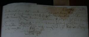 Partida de bautismo del Dr. Valdivieso (1560)
